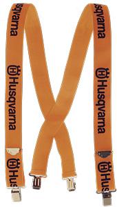Husqvarna bretels, metalen clips